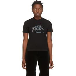 Vetements Black Destiny Cropped T-Shirt WAH21TR568