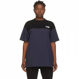 Vetements Black and Navy Cut Up Logo T-Shirt UAH21TR507