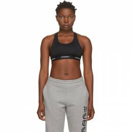 Vetements Black Logo Sports Bra WAH21TR288