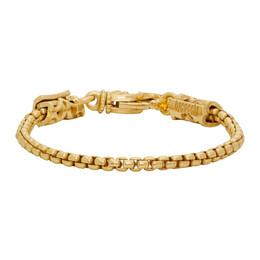 Emanuele Bicocchi Gold Tubular Chain Bracelet RCB120G