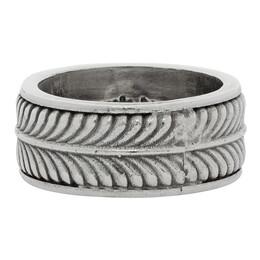 Emanuele Bicocchi Silver Tyre Band Ring PNA20