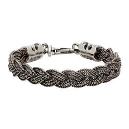 Emanuele Bicocchi Silver Braided Bracelet FKB07