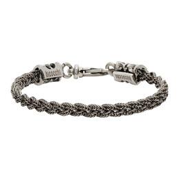 Emanuele Bicocchi Silver Braided Bracelet RLCB3