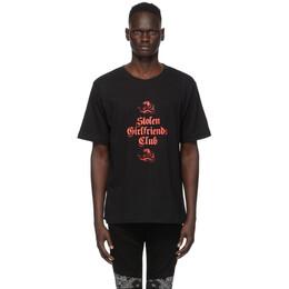 Stolen Girlfriends Club Black Snake T-Shirt C2-19T001D