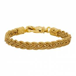 Emanuele Bicocchi Gold Braided Bracelet FKEB5SG