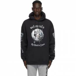 Vetements Black Motorhead Edition The World Is Yours Hoodie UAH21TR613