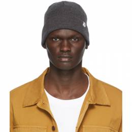 Norse Projects Grey Merino Wool Norse Top Beanie N95-0564