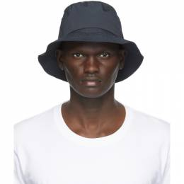 Norse Projects Navy Nylon Bucket Hat N80-0063