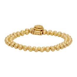 Emanuele Bicocchi SSENSE Exclusive Gold Double Beaded Bracelet RLBB2G
