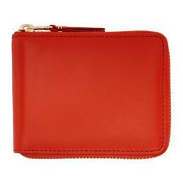 Comme Des Garcons Wallet Orange Classic Zip Wallet SA7100