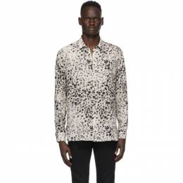 Saint Laurent Off-White and Black Spotted Shirt 634639Y2B45