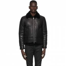 Saint Laurent Black Aviator Jacket 630132YCCR2