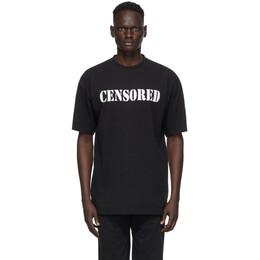 Vetements Black Censored T-Shirt UAH21TR562