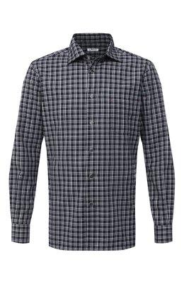 Хлопковая рубашка Kiton UMCNERHH0747214