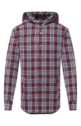 Хлопковая рубашка Kiton UMCMARH0748704