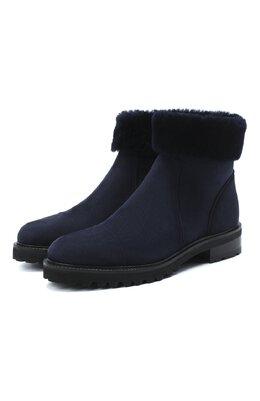 Замшевые ботинки Kiton D50805X04T78