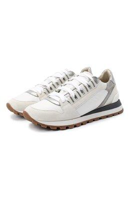 Комбинированные кроссовки Brunello Cucinelli MZSFG1962