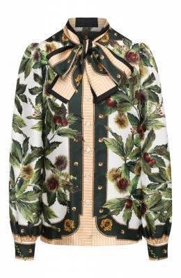 Шелковая блузка Dolce&Gabbana F5N78T/FI12J