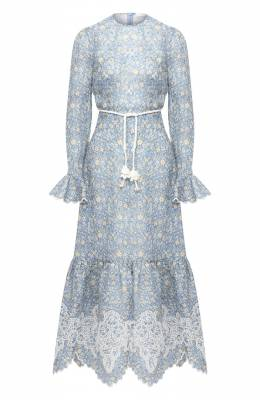 Льняное платье Zimmermann 7847DCAR