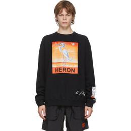 Heron Preston Black Kenny Scharf Edition Heron Sweatshirt HMBA014F20JER0191020