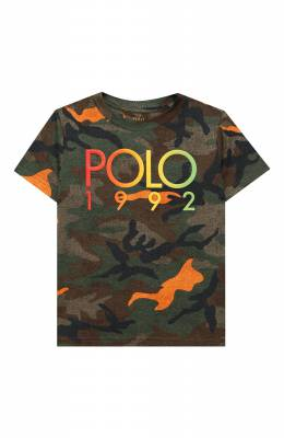 Хлопковая футболка Polo Ralph Lauren 321803575