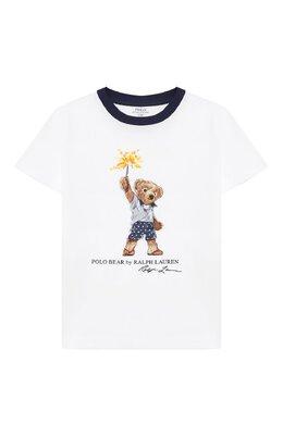 Хлопковая футболка Polo Ralph Lauren 321785958