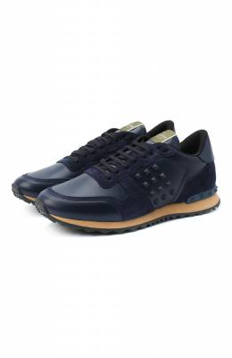 Комбинированные кроссовки Rockstud Valentino Garavani Valentino UY2S0748/VRJ
