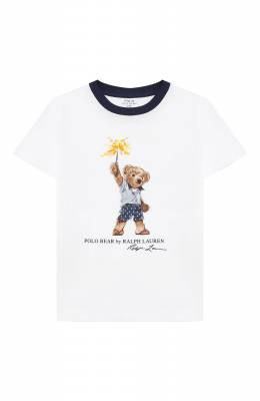 Хлопковая футболка Polo Ralph Lauren 322785958