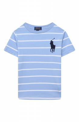 Хлопковая футболка Polo Ralph Lauren 322786411