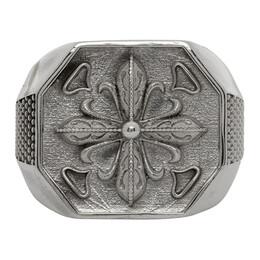Emanuele Bicocchi Silver Cross Seal Ring LILYA20