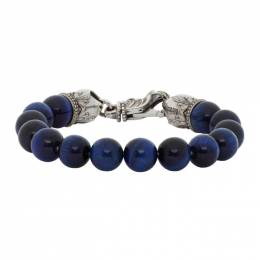 Emanuele Bicocchi Blue Beaded Bracelet TUCB14B20