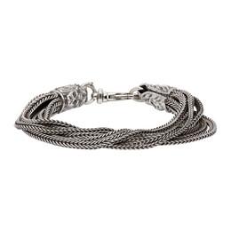 Emanuele Bicocchi Silver Multi Strand Bracelet FKJB1