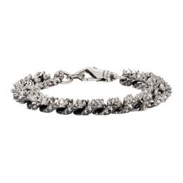 Emanuele Bicocchi Silver Worked Curb Chain Bracelet BXB2