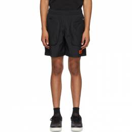 Heron Preston Black Nylon Pocket Shorts HMCB008F20FAB0011000