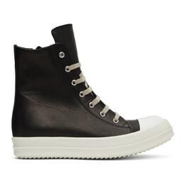 Rick Owens Black High-Top Sneakers RP20F2890 LCAP