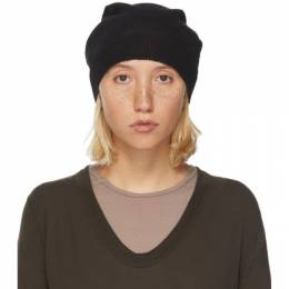 Rick Owens Black Mohair and Alpaca Medium Beanie RP20F2494 KAI