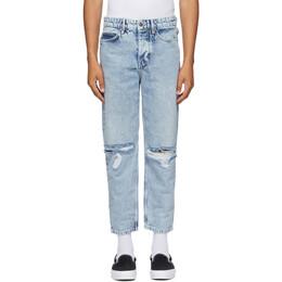 Ksubi Blue Bullet Crop Overkast Sliced Jeans 5000004936