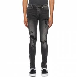Ksubi Grey Van Winkle Bandana Angst Trashed Jeans 5000004928