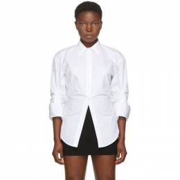 Alexander Wang White Oversized Cinched Shirt 1WC2201376