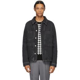 Ami Alexandre Mattiussi Black Denim Worker Jacket A20HD421.611