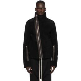 Rick Owens Black Shearling Bauhaus Jacket RU20F3768 LSHC