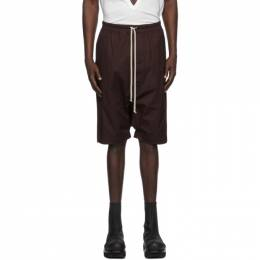 Rick Owens Burgundy Pods Shorts RU20F3384 TE
