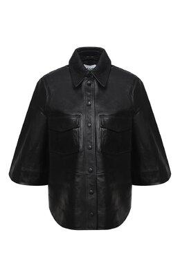 Кожаная рубашка Ganni F4945