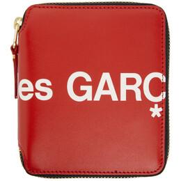 Comme Des Garcons Wallet Red Huge Logo Zip-Around Wallet SA2100HL