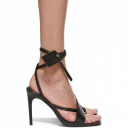 Off-White Black Zip-Tie Heeled Sandals OWIA252E20LEA0011000