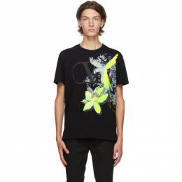 Valentino Black VLogo Mural Jungle T-Shirt UV3MG07X6JG