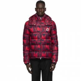 Moncler Red and Navy Down Frioland Guibbotto Jacket 1A5980054AN4