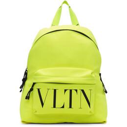 Valentino Yellow Valentino Garavani VLTN Backpack UY2B0993HUF