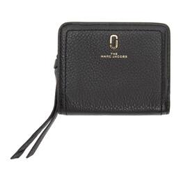 Marc Jacobs Black Mini Softshot Compact Wallet M0015122