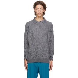 Balenciaga Grey Crinkled Wool Sweater 625926-T1570-1240